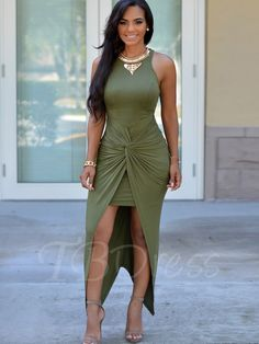 Tbdress.com offers high quality Bodycon Double-Layered Women's Maxi Dress Maxi Dresses unit price of $ 20.99.