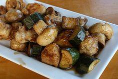 mushroom chicken      Mushroom Chicken( with zucchini)