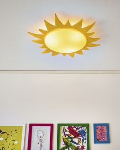 It'll always be sunny in your kid's room with the SMILA SOL ceiling lamp.