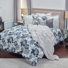 Cal King Dovedote 8 Piece Bed in Bag Rugby Comforter Cotton Sheet Set