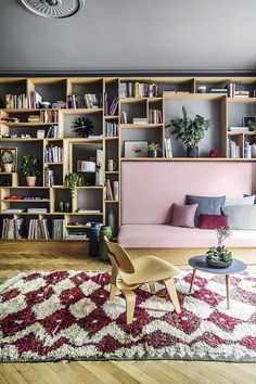 I want the same thing in my sittingroom....decordemon: Creative and stylish family home in Denmark