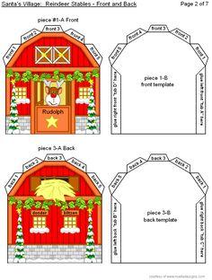 Reindeer Stables - Easy Print