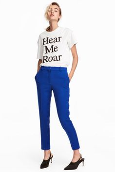 Pantalon-cigarette - Bleu - FEMME | H&M CA 1