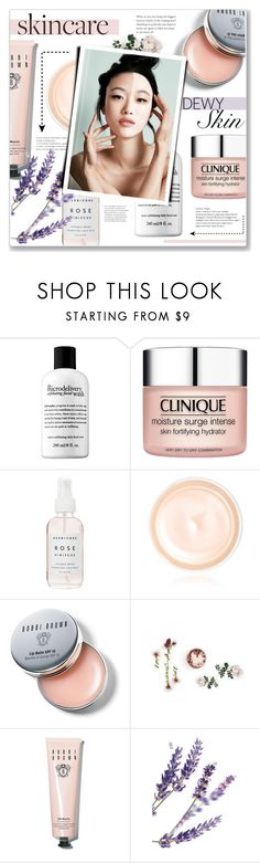 """""""My skincare routine!"""" by lilymillyrose ❤ liked on Polyvore featuring beauty, Clinique, Herbivore, Giorgio Armani, Bobbi Brown Cosmetics and SkinCare"""