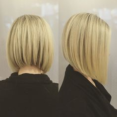 These 23 Inverted Bob Haircuts Are Trending in 2019 - Style My Hairs Edgy Short Haircuts, Angled Bob Haircuts, Inverted Bob Hairstyles, Short Hair Cuts, Cool Hairstyles, Medium Hair Styles, Short Hair Styles, Bob Haircut For Fine Hair, Haircut Bob