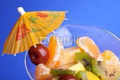 Fruit Salad 0n Blue Background © eZeePics Studio #29243705  From $1.50
