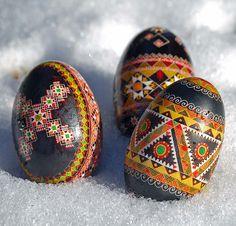 goose eggs in the snow. go to www.pysankybasics.com