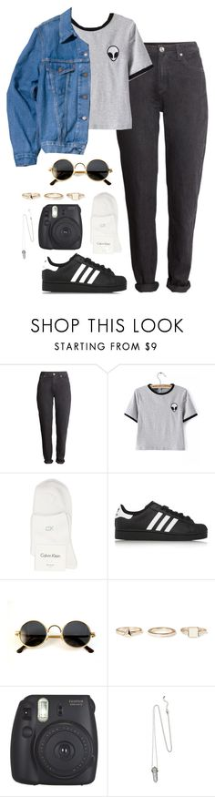 """ALIEN TEE"" by monikaps ❤ liked on Polyvore featuring H&M, Levi's Vintage Clothing, Calvin Klein, adidas Originals and Warehouse"