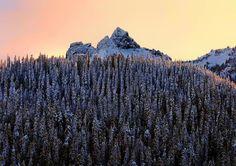 "4,212 Likes, 29 Comments - Washington (@livewashington) on Instagram: ""Cannot beat mornings like these. Photo @justbethwithaj  Pinnacle Peak and The Castle. Mt Rainier…"""