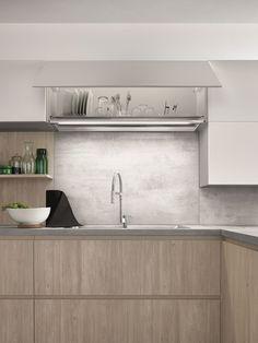Cocina integral con península de melamina MAXIMA 2.2 - COMPOSITION 4 by Cesar Arredamenti diseño Gian Vittorio Plazzogna