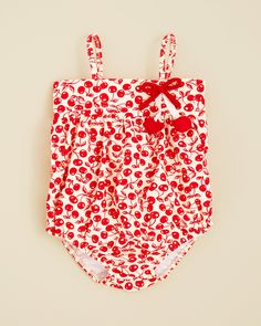 Kate Mack Infant Girls' Cha Cha Cherry Bubble Swimsuit - Sizes 3-9 Months | Bloomingdale's