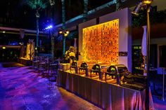 The after-party took place at the Hollywood Roosevelt Hotel, where buffet stations were set up in front of a glowing gold backdrop.  Photo: Sean Twomey/2me Studios