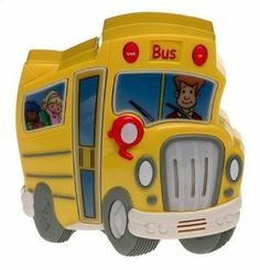 "Electronic Handheld Wheels on the Bus by Milton Bradley. $33.96. Explore the Bus - Learn the bus parts and their sounds. Match the Sounds Game - What on the bus goes swish, swish, swish?. Easy to take wherever you go! Includes light, speech & music! Volume control for High & Low! Easy for child to play alone.. Find Me Game - Can you find the door?. Sing the Song - Hear the entire Wheels on the Bus Song as a reward for a job well done!. Includes the popular ""Wheels on th..."