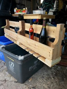 Reclaimed wood pallet wine rack 60.00+shipping.