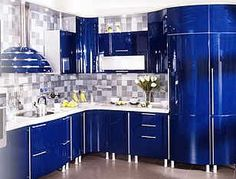 Faraon Kitchen - Lot's of color! Ultra Modern kitchen remodel. I seriously want this!!!