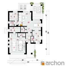 Dom w montbrecjach Attic Bedrooms, Cottage Exterior, House Projects, Planer, House Plans, Pergola, Floor Plans, Houses, How To Plan