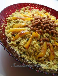 In cucina mi rilasso: Couscous con pollo, verdure di stagione e ceci croccanti
