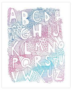 alphabetpink by nateduval on Etsy, $19.00