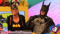 Lauren and Shane from WB Kids as Batgirl and Batman! http://www.costumecollection.com.au/superhero-and-villain-costumes/batman-costumes/mens-collectors-comic-batman-costume.html http://www.costumecollection.com.au/adult-batgirl-superhero-costume.html