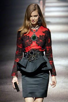 Lanvin Fall 2012 .... i defiantly love the lower part but too much on the upper