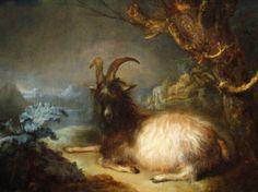 Landscape with a Goat, Gerrit Dou, 1660-65.