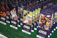 Sports Ticket Place Cards Baseball & Basketball Sports Tickets with Player Images & Custom Logo