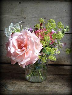 Vintage Rose jam jars.