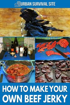 Beef jerky is made in two steps. The first step is the marinade, and the second step is the drying process. The end result is delicious preserved jerky.