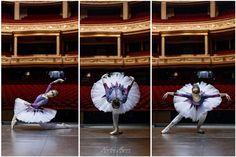 Hand-painted ballet outfit by Wiecznie Bazgrająca Fot: Karolina Majsner #ballet #fashion #ballerina #galaxy #theatre #balet #baletnica