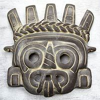 Tlaloc the Rain God from @NOVICA, Handcrafted Aztec Cultural ceramic mask from Mexico