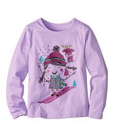 Loving this First Lavender Skier Tee - Infant, Toddler & Girls on #zulily! #zulilyfinds