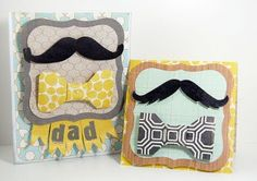 Father's day cards. Idea from http://paperissues.blogspot.com/2011/06/mandy-knows-mustaches.html