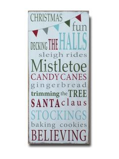 - description - Specs Christmas truly is the most wonderful time of the year. We created this fun sign to remember all those moments that make this holiday one of our favorites. Hand painted on a pine