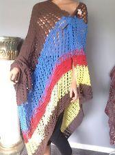 Shawl Cotton Hand Knit Hip Designer Fashion Extra Large Multicolor Spring Summer