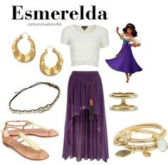 Disney Costumes My childhood dream could become a reality. I could BE Esmerelda Disney Bound Outfits Casual, Disney Princess Outfits, Disney Themed Outfits, Disney Dresses, Casual Outfits, Cute Outfits, Fashion Outfits, Fashion Trends, Kida Disney