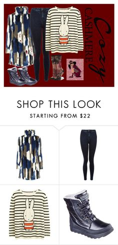 """""""Cashmere Chic- Cozy Snowy Day"""" by bluehatter ❤ liked on Polyvore featuring New Look, Stance, Skechers and cozychic"""