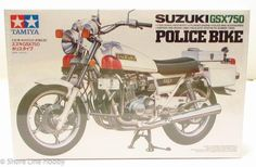 This Suzuki Police Bike plastic model kit is made by Tamiya in scale. Accurate 4 cylinder engine Police bike accessories Ignition and brake lines Realistic and synthetic rubber tires Suzuki Motos, Suzuki Gsx 750, Plastic Model Kits, Plastic Models, Motorcycle Model Kits, Police, Model Building Kits, New Motorcycles, Rubber Tires