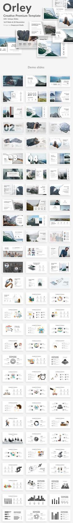 Orley Creative Powerpoint Template by One Percent Studio on Creative Market - Keynote - Ideas of Keynote - Orley Creative Powerpoint Template by One Percent Studio on Creative Market Web Design, Slide Design, Modern Design, Graphic Design, Layout Design, Presentation Design Template, Design Templates, Presentation Slides, Web Mockup