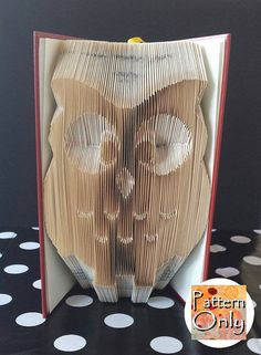 Owl Folded Book Art Pattern