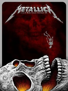 Metallica Portland VIP Poster by Emek Art Metallica, Metallica Concert, Rock Posters, Band Posters, Concert Posters, Rock Bands, Metal Bands, James Hetfield, Hard Rock
