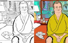 Thrill Murray expanded:  Bill Murray coloring book.  Don't deny it.  You have been waiting for this moment.