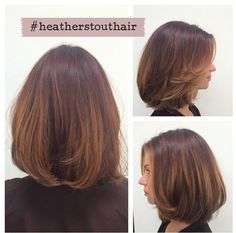 Balayage ombre bob cut ( auburn, copper, golden )