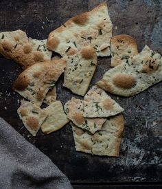 Semolina crackers. Excellent recipe. I used my KitchenAid pasta roller to get a consistently thin cracker.
