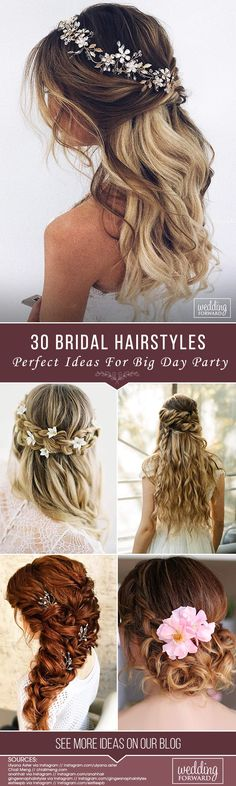 30 Perfect Bridal Hairstyles For Big Day Party ❤ Every last detail from the dress to makeup and hair will have been meticulously planned for months. So look at our perfect collection of bridal hairstyles. See more: http://www.weddingforward.com/bridal-hairstyles/ #weddings #hairstyles #bridalhairstyle #bridalhairstyles