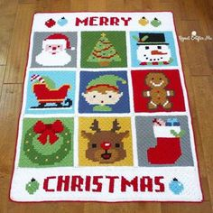 The Perfect, Adaptable #Crochet #Christmas Blanket FREE Pattern - designed by Repeat Crafter Me