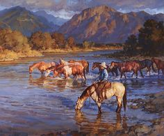 """River Shadows"" by Jason Rich (Cowboy Artist)"