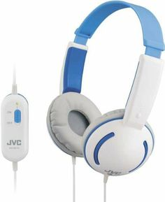 These Tiny Phones HA-KD10-A-E are compact, colourful, lightweight and easy to clean, with comfy earpads that limit noise to 90 dB. Limits maximum sound volume Comfortable soft ear pads Compact size for kids Suitable for Age 4 and over Easy to clean www.hogiesonline.co.uk - JVC HA-KD10-P TINY HEADPHONES FOR KIDS - BLUE, £14.99 (http://www.hogiesonline.co.uk/jvc-ha-kd10-p-tiny-headphones-for-kids-blue/)