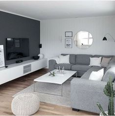 Living room with beautiful clean look