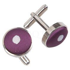 Polka Dot Purple Cufflinks http://www.dqt.co.uk/polka-dot-purple-cufflinks.html