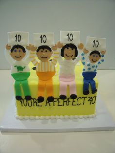 40 birthday cakes - How cute is this!?
